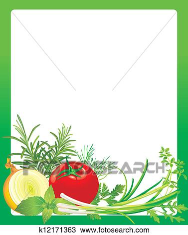 Vegetable Border Clip ... Vegetable Garden Coloring Page