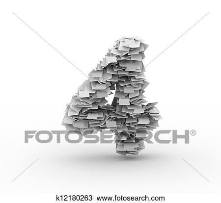 dessin grand tas de papier num ro 4 k12180263 recherchez des cliparts des illustrations. Black Bedroom Furniture Sets. Home Design Ideas