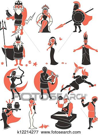 Greek mythology Clipart Vector Graphics. 1,406 greek mythology EPS ...