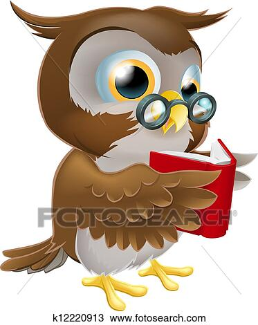 Clipart of Cute animals cartoon reading book k19296652 - Search ...