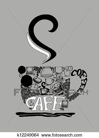 手绘图 - 咖啡