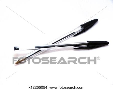Stock Photo of Biros - two black biro/ballpoint pens k12255054 ...