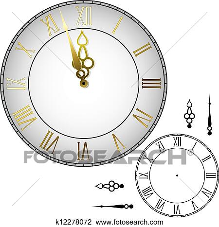 Clipart Of Old Fashioned Wall Clock K12278072 Search