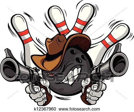 Clipart cow boy boule bowling dessin anim shootout k12367960 recherchez des clip arts - Bowling dessin ...