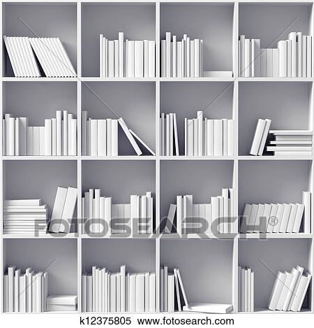 stock illustration wei b cherregale k12375805 suche. Black Bedroom Furniture Sets. Home Design Ideas