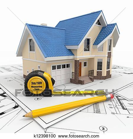 Banque d 39 illustrations r sidentiel maison outils for Outils architecte