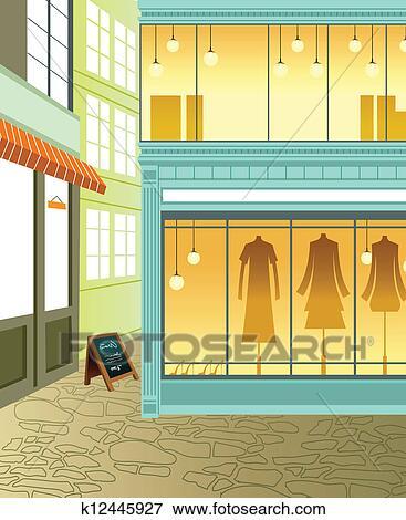 clipart exposition fen tre dans magasin k12445927 recherchez des cliparts des. Black Bedroom Furniture Sets. Home Design Ideas