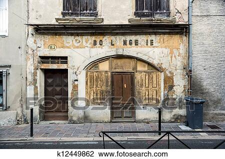 Archivio fotografico vecchio francese boulangerie in for Piccolo in francese