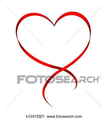 clipart herz von rotes band freigestellt wei hintergrund k12472021 suche clip art. Black Bedroom Furniture Sets. Home Design Ideas