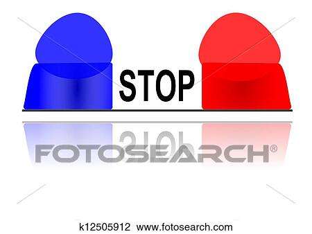 Clipart of The flashing police beacon k12505912 - Search Clip Art ...