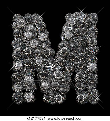 Letter M In Diamonds Stacked Up