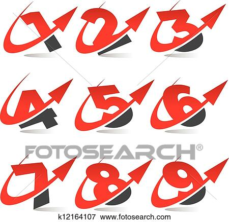 clip art of swoosh arrow number icons k12164107 search clipart rh fotosearch com baseball swoosh clipart swoosh clipart png