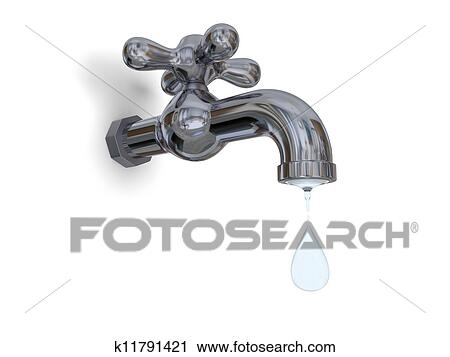 Clipart of Tap dripping k11791421 - Search Clip Art, Illustration ...