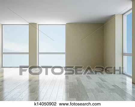 图吧- 空房间, 带, 窗口