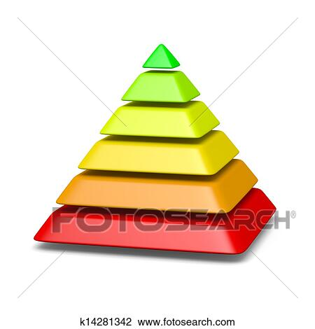 clip art of 6 levels pyramid structure environment concept rh fotosearch com pyramid clipart shape pyramid clip art free