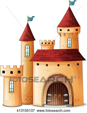 Clip Art of A beautiful palace k13105137 - Search Clipart ...