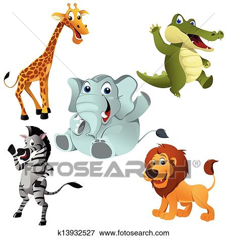 clip art of african animals k13932527 search clipart illustration rh fotosearch com wildfire clip art wildlife clip art to copy