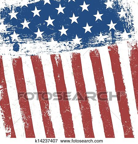 American Flag Grunge Background Vector EPS10