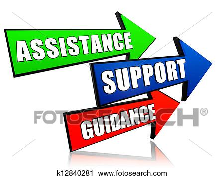 clipart of assistance support guidance in arrows k12840281 rh fotosearch com family support clipart technical support clipart