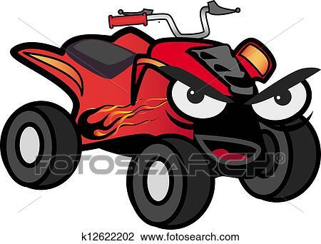 clip art of atv car k12622202 search clipart illustration rh fotosearch com atv silhouette clip art atv silhouette clip art