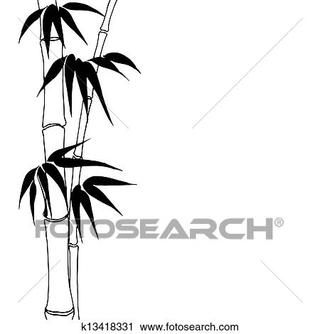 clipart of bamboo k13418331 search clip art