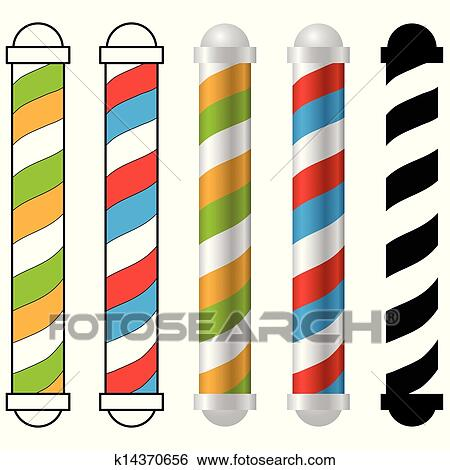clip art of barber shop pole k14370656 search clipart rh fotosearch com barber shop clipart free barber shop clipart free