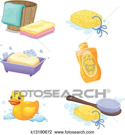 clipart of bathroom accessories k13190672 search clip