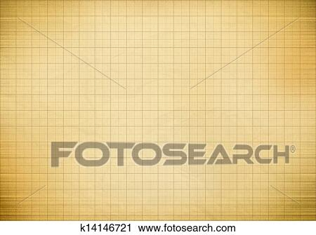 Clipart Of Blank Millimeter Old Graph Paper Grid Sheet Background Or