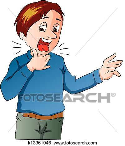 clip art of boy lost his voice illustration k13361046 search rh fotosearch com loss clipart clipart lost and found