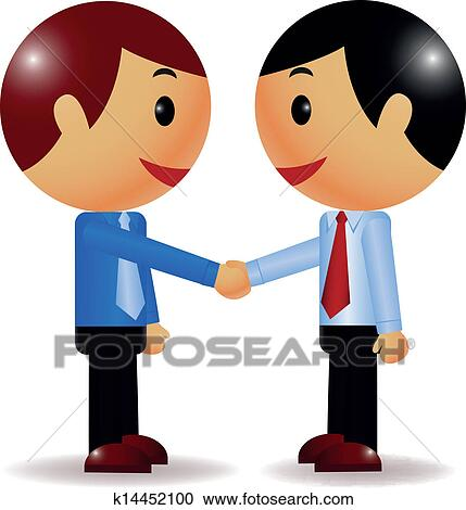 clipart of businessman shake hand k14452100 search clip art rh fotosearch com clipart two hands shaking clipart shaking hands
