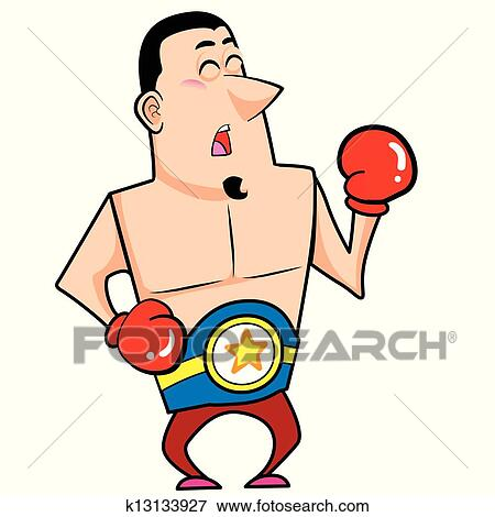 clip art of cartoon boxer k13133927 search clipart illustration rh fotosearch com boxing clipart black and white boxing clipart images