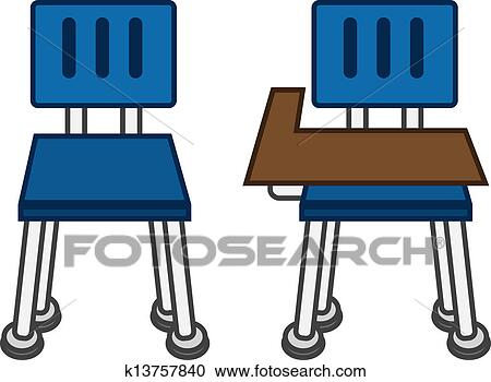 Clipart Of Classroom Chair Front K13757840