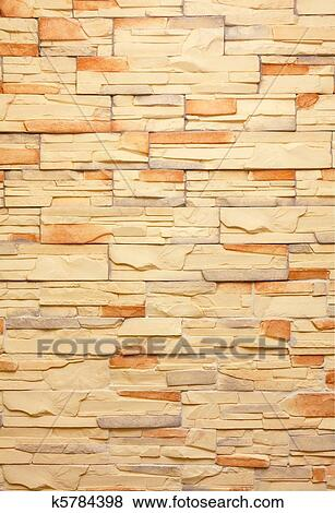 Pictures of Decorative tiled wall k5784398 - Search Stock Photos ...