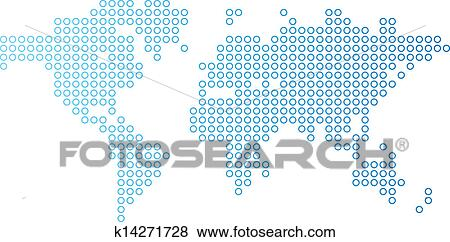 Clip art of dotted world map k14271728 search clipart blue dotted world map vector illustration gumiabroncs Image collections