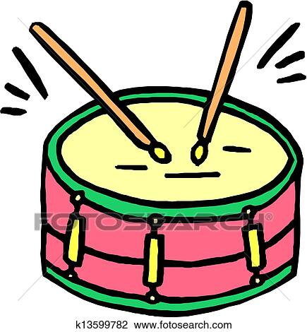 clipart of drum and drumsticks k13599782 search clip art rh fotosearch com clipart drum set drum clipart free