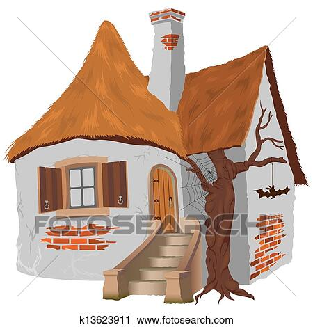 Clipart Of Fairy Tale Cottage K13623911