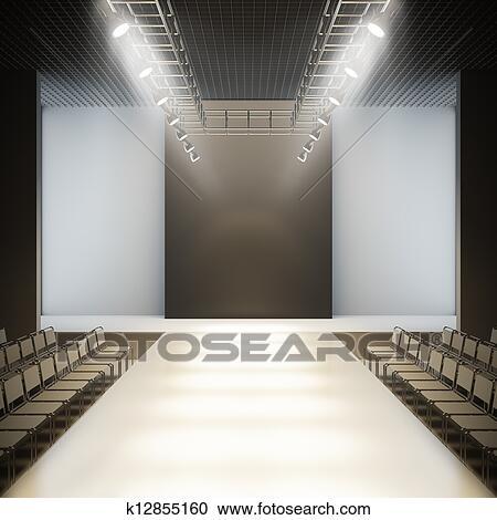 Stock Illustrations Of Fashion Empty Runway K12855160