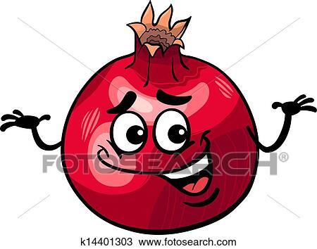 clipart of funny pomegranate fruit cartoon illustration k14401303 rh fotosearch com pomegranate clipart pomegranate clipart free