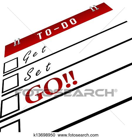 stock illustrations of get set go in to do list red k13698950 rh fotosearch com to do list clipart free