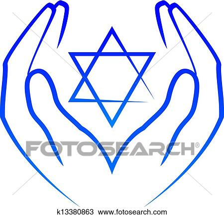 clipart of hands holdin star of david k13380863 search clip art rh fotosearch com Star of David Holocaust Christmas Star Clip Art