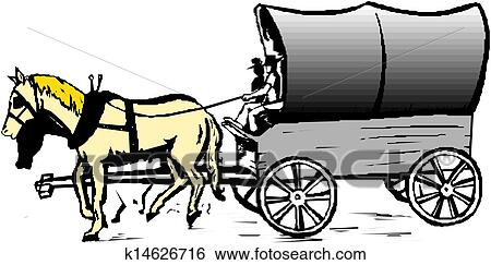 clip art of horse cart vector k14626716 search clipart rh fotosearch com horse and buggy silhouette clip art amish horse and buggy clipart