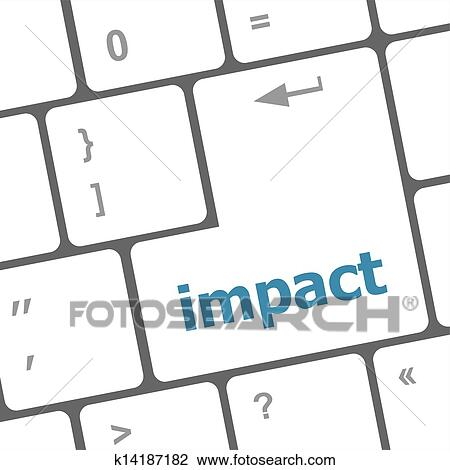 clip art of impact button on keyboard business concept k14187182 rh fotosearch com computer keyboard clip art free computer keyboard images clip art