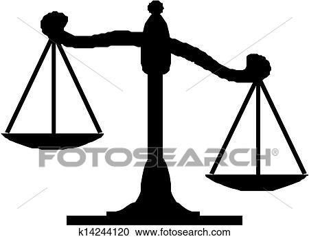 clipart of justice scales k14244120 search clip art illustration rh fotosearch com