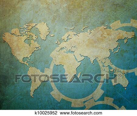 地图, 世界,