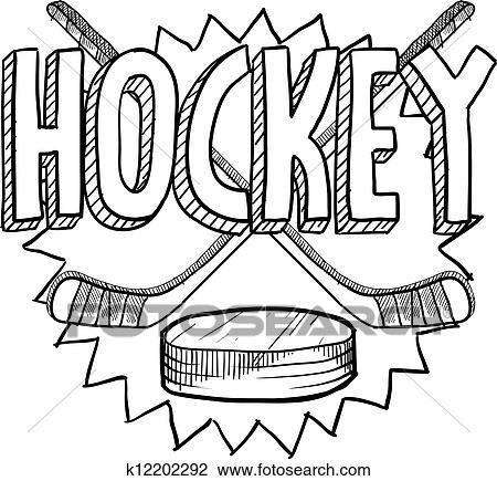 Clipart hockey croquis k12202292 recherchez des clip arts des illustrations des dessins - Dessin de hockey ...