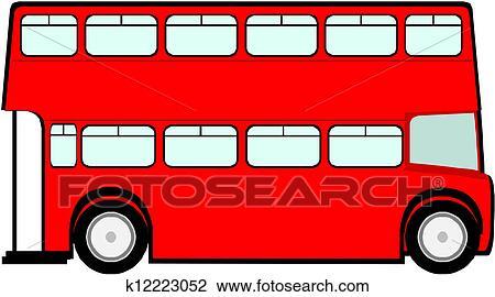 Clipart - london, rot, bus k12223052 - Suche Clip Art ...