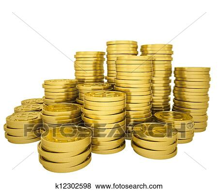 stock illustration of pile gold coins k12302598 search