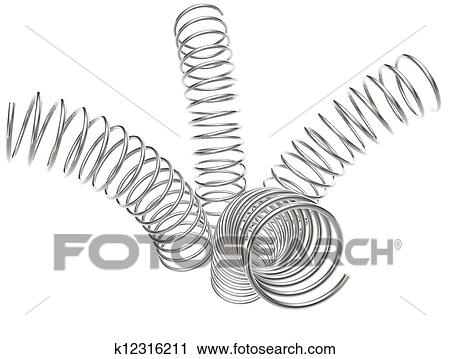 Clipart of Metal springs on a white background k12316211 - Search ...