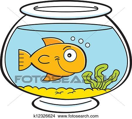 Clip Art Fish Bowl Clipart fish bowl clipart and illustration 3273 clip art cartoon in a bowl