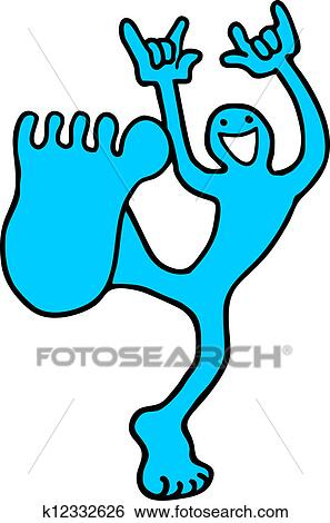 Clip Art of Happy foot k12332626 - Search Clipart, Illustration ...